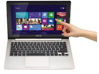 Laptop i3 11.6-inch Asus, Touchscreen Netbook, 500GB with box. Webcam, built in speakers.