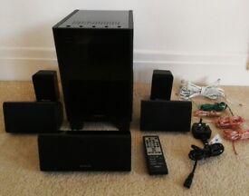 Onkyo Digital Surround Sound Home Theater HTX-22HDX w/ 5 Speaker & Cables