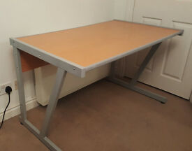 Office Desk - sturdy with beech effect finish