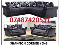 LARGE RUBY CORNER/3+2 SOFA £369- CHROME FEET