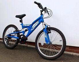 Trax TF20 full suspension child's mountain bike