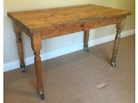 Solid Antique Pine Farmhouse Kitchen/DIning Table