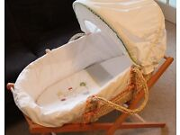 Moses Basket with stand- Mamas and Papas