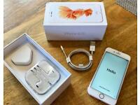 Apple iPhone 6s Rose Gold 16gb unlocked (excellent condition)