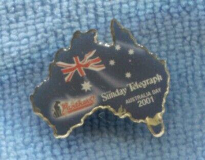 2001 Australia Day Panthers Sunday Telegraph Souvenir Pin Badge O-480
