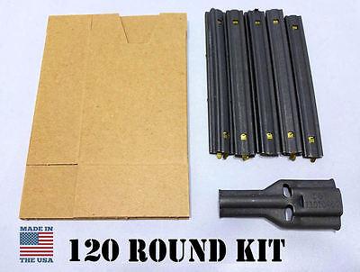 STRIPPER CLIP 120 Round Reload Kit - Cardboard Sleeves & Filler Spoon 5.56mm USA