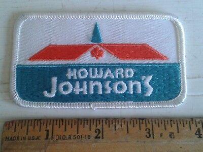 Vintage Howard Johnson's Embroidered Patch 1970's HoJo Hotel Motel Johnsons