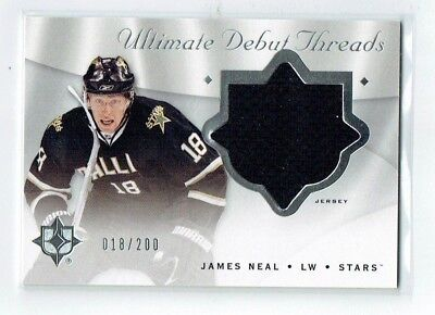 18 200 Thread (08-09 UD Ultimate Debut Threads  James Neal  18/200  His Number  Jersey  Rookie )