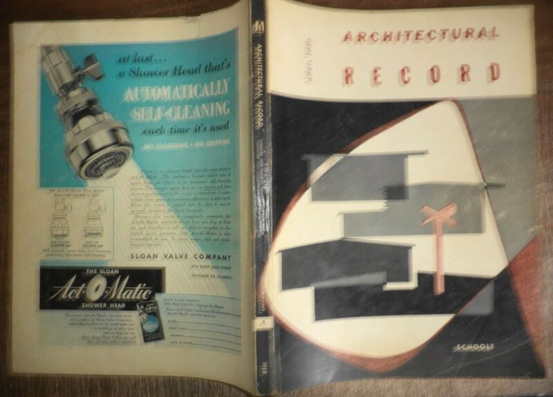 VINTAGE APRIL 1950 ARCHITECTURAL RECORD SCHOOLS MODERN BUILDINGS DESIGN HISTORY