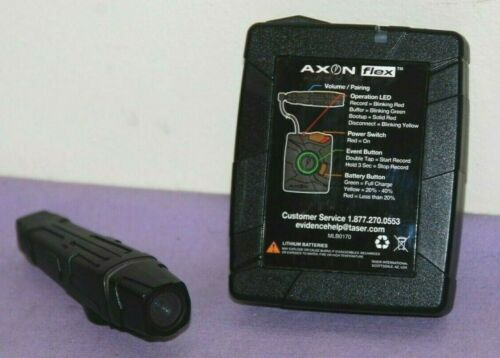 Axon Flex Police Body Camera and Controller No Charger -- Great Condition
