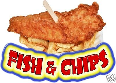 Fish Chips 14 Decal Restaurant Concession Food Truck Van Vinyl Menu Seafood