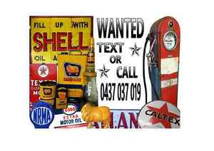 CASH for Old Service Station Stuff Sign Oil Bottle Tin Can Bowser The Hill Newcastle Area Preview