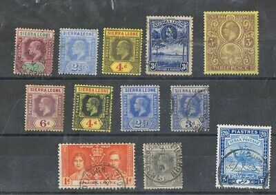 SIERRA LEONE - Lot of old stamps