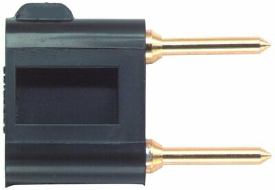 Pomona 3452-0 Brass Double Pin Tip Plug With Shorting Bar 1.2 Length Black...