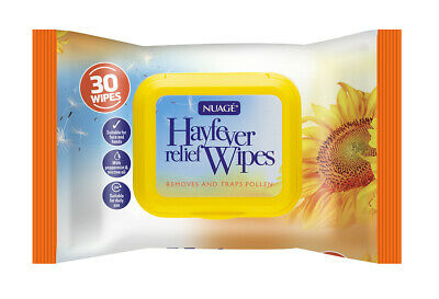 3 Pack 90 Wet  Wipes Nuage Hayfever Allergy Relief  for Face Hand Traps Pollen