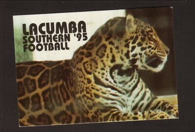 Southern Jaguars  1995 Football Pocket Schedule  Louisiana Lottery