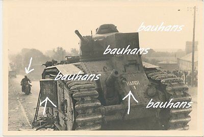 Panzer-Tank französicher Durchbruchsversuch von Cambrai bei Le Chatelet (c174)