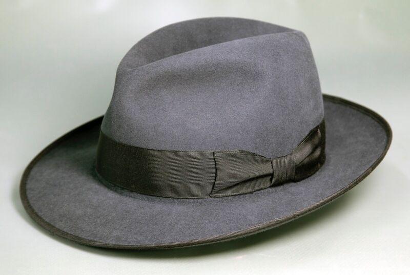 4e61f9d359e Akubra Bogart Fedora Hat - Carbon Grey   47  Size 57