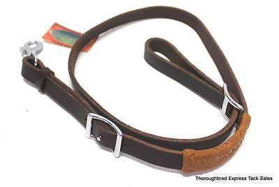 Latigo Leather Tie Down - D.A. Brand Latigo Leather Tie Down Strap w/Rawhide Accents horse tack