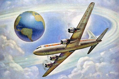 """Douglas DC-6B ((8.5""""x11"""")) Print"""