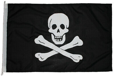 Pirate flag MoD approved sewn stitched embroidered jack rackham jolly roger uk