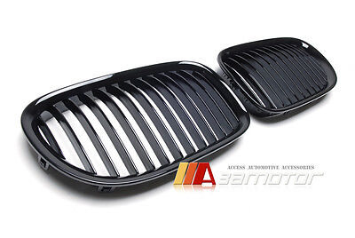 Gloss Black Front Kidney Grilles Grills Set for BMW 2009-2015 F01 F02 7-Series