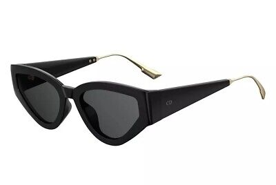 Christian Dior Sunglasses Catstyledior 1 Black Gold Grey Lens 807 Women (Christian Sunglasses)