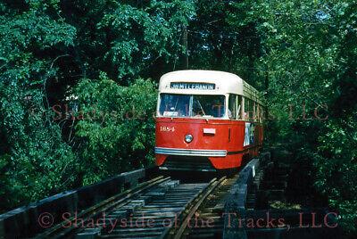 Pittsburgh Railways PRCo Electric PCC Streetcar #1684 Original Slide Mt Lebanon