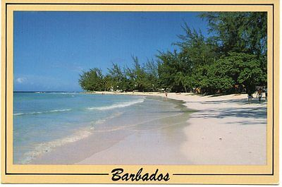 Barbados  Accra Beach, Christ Church 1990's card to US