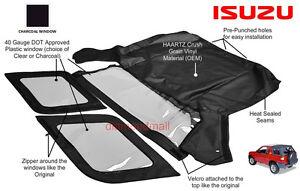 Isuzu Amigo  Rodeo 1998 1999 2000 2001 2002 Convertible Soft Top Charcoal Window