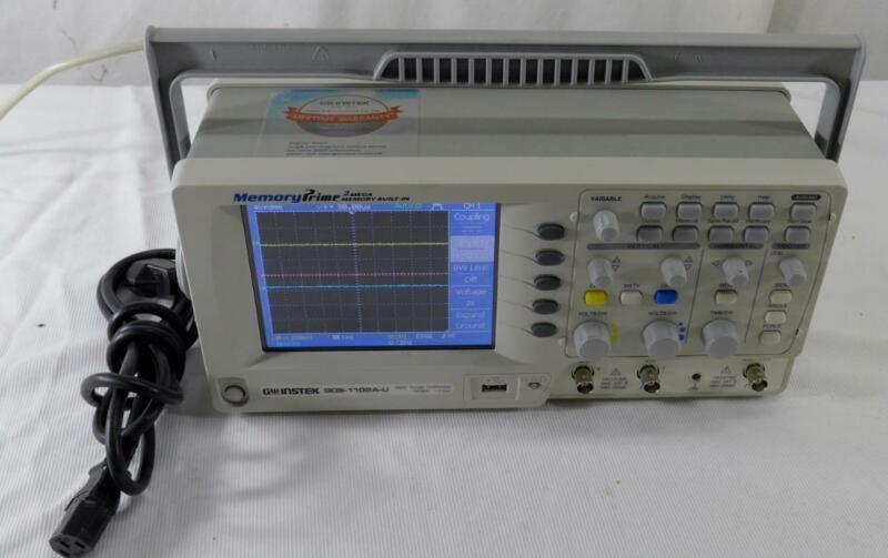"GW Instek GDS-1102A-U 5.7"" 100 MHz Color LCD Digital Storage Oscilloscope"