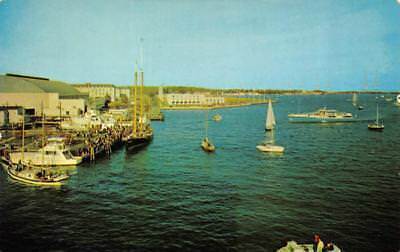 ANNAPOLIS, MD Maryland  SPA CREEK HARBOR  Ships~Boats~Sailboats  Chrome Postcard