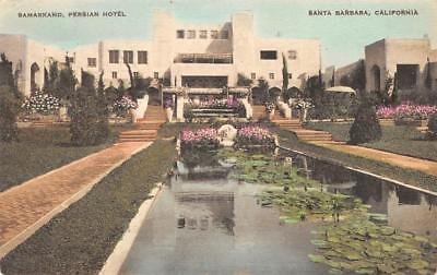 SAMARKAND PERSIAN HOTEL Santa Barabara, CA 1927 Vintage Hand-Colored Postcard - $4.99