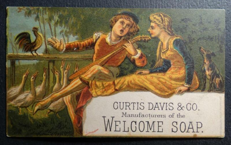 Trade Card - Curtis Davis & Co. Manufacturers of the Welcome Soap