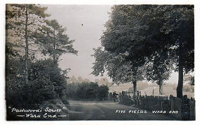 Five Fields Ward End Birmingham RP old postcard used 1908 Aston Manor Packwood's