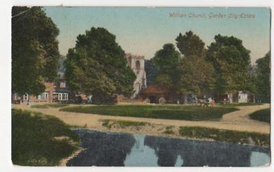 Willian Church Garden City Estate Hertfordshire 1922 Postcard 811b