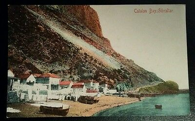 VINTAGE POSTCARD - CATALAN BAY, GIBRALTAR - EARLY 1900's