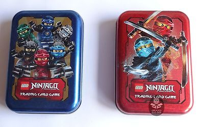 LEGO NINJAGO Serie 2 MINI TIN BOX A + B, Trading Card Game, leer