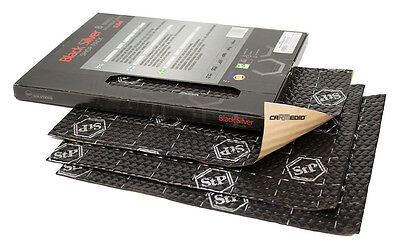 STP BLACK SILVER 375x265x1,8mm SHOP PACK (8 Stk) Alubutyl Dämmmaterial
