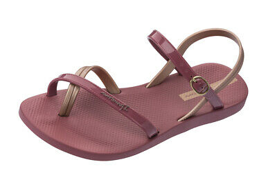 Ipanema Fashion Sandal 21 Womens Cross Straps Flip Flops Beach Flats Berry Red