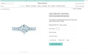Tiffany & Co Diamond Engagement ring,  1.05 carat Bronte Eastern Suburbs Preview