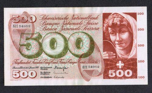 500 Franken 1970 Pick # 51h SWITZERLAND SCHWEIZ VF