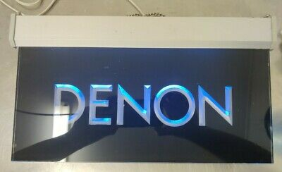 Vintage Denon Home Audio Display Sign Light Up FREE S&H