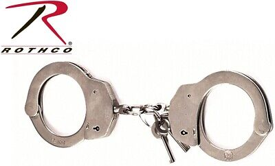 Silver Police Issue Nickel Law Enforcement Handcuffs Rothco 10098 for sale  Shipping to Canada
