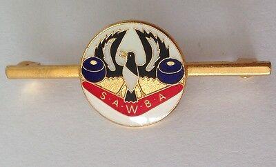 South Australia Womens Bowling Club Badge Bar Pin Lawn Bowls Bird Design (M23)