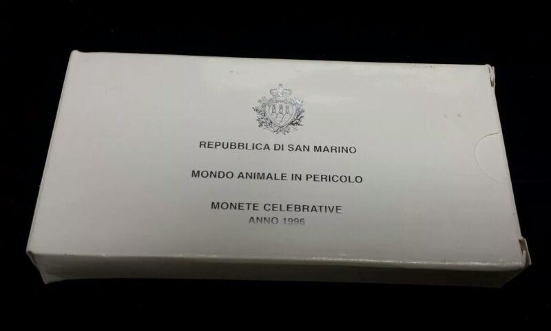 1996 Republic of San Marino Proof 2 Silver Coin Set 5000 & 10000 Lire