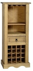 Solid Pine Corona Wine Rack, Excellent Condition
