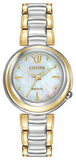 Citizen Eco-Drive Women's Sunrise Diamond Accents Two-Tone 30mm Watch EM0337-56D