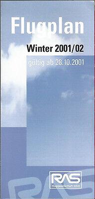 Ras Rheinland Air Service System Timetable 10 28 01  6102  Buy 2 Get 1 Free