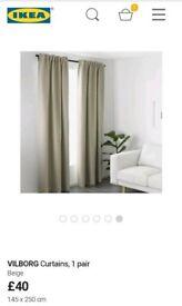 Bream IKEA vilborg blackout curtains with crystal detail telescopic curtain pole